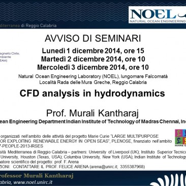 K. Murali – CFD analysis in hydrodynamics