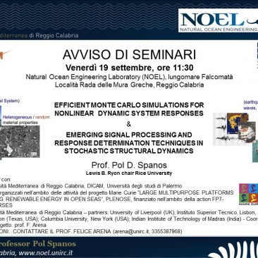 Lectures by Prof. Pol D. Spanos