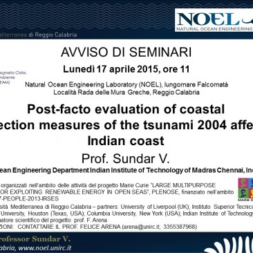 V. Sundar – Post-facto evaluation of coastal protection measures of the tsunami 2004 affected Indian coast