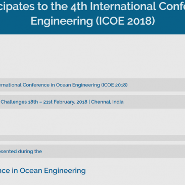 PLENOSE Meeting during the 4th International Conference in Ocean Engineering (ICOE 2018)