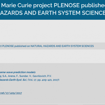 A paper within Marie Curie project PLENOSE published on NATURAL HAZARDS AND EARTH SYSTEM SCIENCES