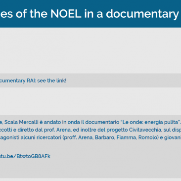 Research activities of the NOEL in a documentary RAI 3: see the link!